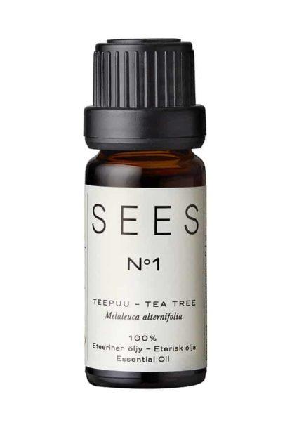 teepuu eteerinen öljy aito tea tree sees company