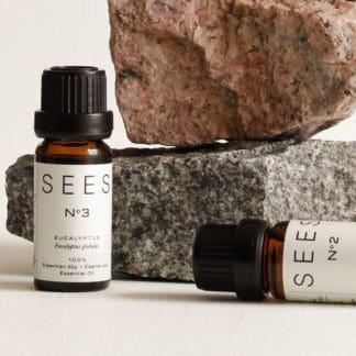 SEES Company aito eteerinen öljy. Laventeli, teepuu, sitruuna ja eucalyptus.