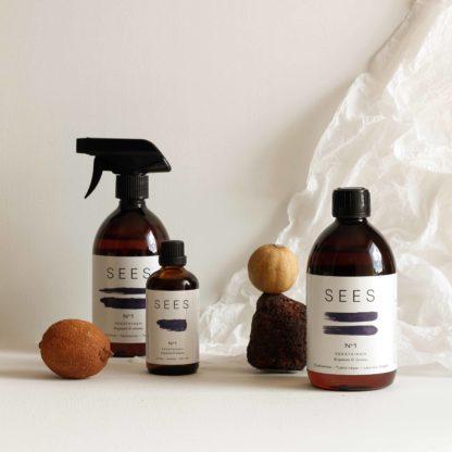 SEES company pyykkietikka, tekstiilisuihke, ihoöljy ja eteerinen öljy. luonnollinen ja biohajoava.