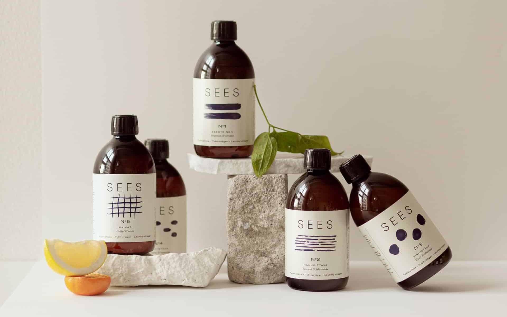 kotimainen pyykkietikka biohajoava kaunis pullo sees company