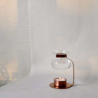 SEES company diffuuseri kupari kinto kynttilä tuikku metalli aroma diffuser oil warmer finland